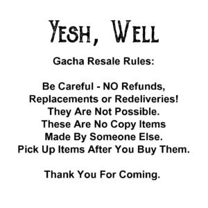 Gacha resale rules