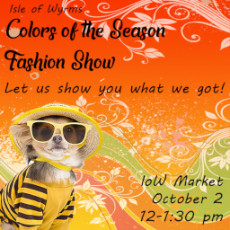 IOW Fashion Show poster